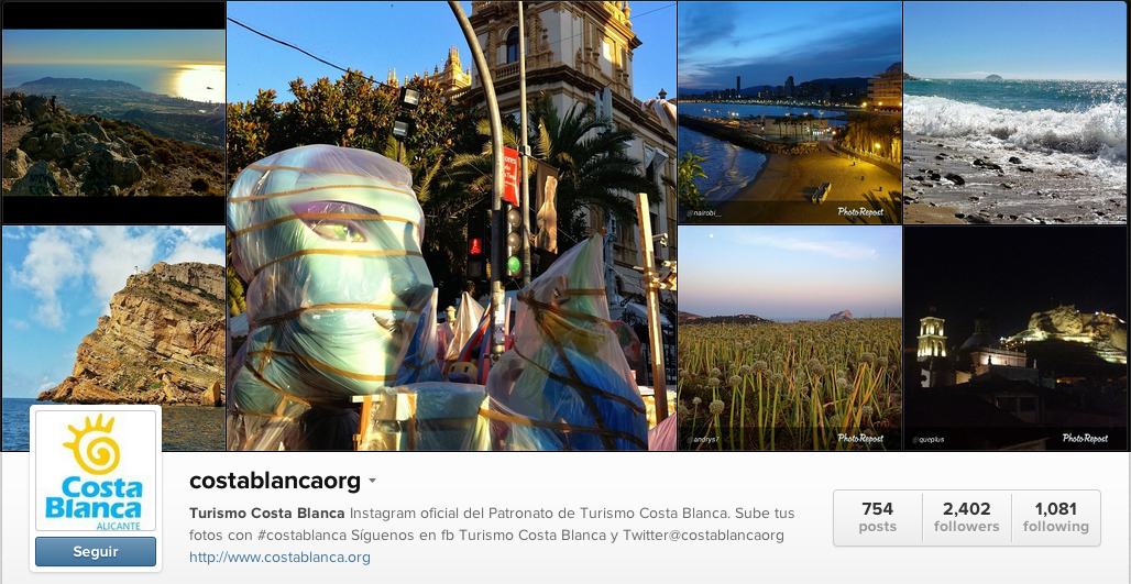 Turismo Costa Blanca Instagram