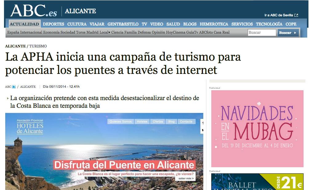Nota-de-Prensa-Puentes-en-Alicante |Asociación de Hoteles de Alicante | Puentes en Alicante